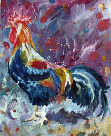 Rooster Painting